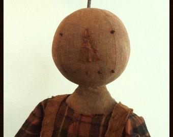 Simply Mr. Jack O'Lantern pattern a fun fall guy created by Carol Woodard of Woodland Primitives