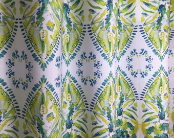 Yellow, Turquoise, Lime Green Cafe Valances and Curtains, Window Treatments, Kitchen, Bedroom or Office Curtain Valance
