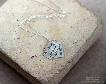 Personalized Special Date Necklace: Two Pendants, Two Dates.