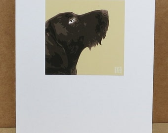 German Wirehaired Pointer Greeting Card Art Print