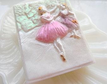 DEGAS BALLERINA SOAP, Edgar Degas - Two Dancers on the Stage 1874, Artistic Soap, Ballerina Dancers, Art Lover, Hand Painted, Custom Scented