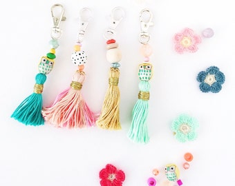 Shop this pic! Handmade key chain tassels perfect/easy to use w/keys, planners, purses and Mother's day gifts XO
