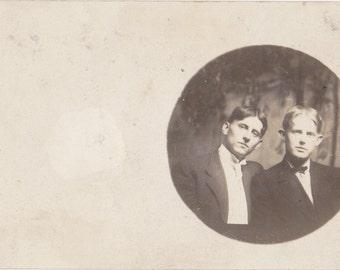 How Does It Suit You- 1900s Antique Photograph- Edwardian Men- Handsome Man- Found Photo- Real Photo Postcard- RPPC- Paper Ephemera