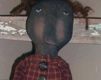 Black Doll with Grubby Cow