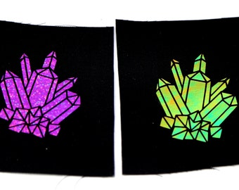 Crystal Sparks Punk Patches in Two Colors