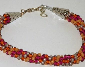 Kumihimo Handcrafted Beaded Bracelet