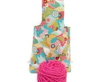 Medium Spring Paisley Flower Yarn Bag Project Tote S118
