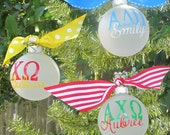 Personalized Sorority Ornament