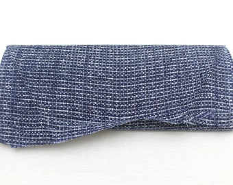 Japanese Vintage Indigo Yukata Cotton. Full Fabric Bolt for Traditional Clothing. Hand Dyed Indigo Blue Gray (Ref: 1447)