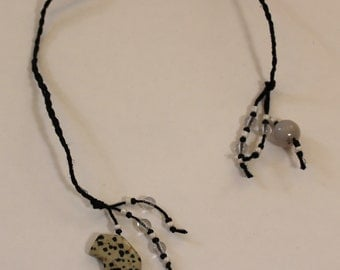 Braided Hemp Bookmark - Dalmation Buffalo