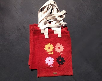 Farmer's Market Bag, Daisy Tote, Gift for Mom, Reusable Tote