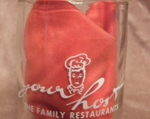 Your Host Family Restaurant Take Out Coffee Deposit Jar Glass