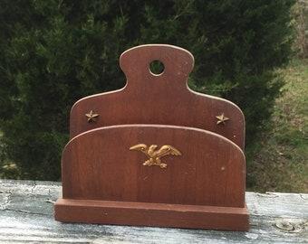 Letter Holder Mail Holder Wooden Mail Pocket Eagle Office Desk Organizer