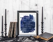 Rowena Ravenclaw Quote Art -  If you have to ask you'll never know - Harry Potter themed art - Hogwarts - Print - Poster - Books -  HP
