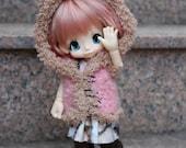 Pink Bunny hooded vest ~ for KikiPop // KinokoJuice