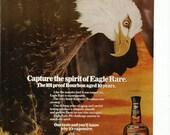 1980 Advertisement Eagle Rare Bald Eagle America American Bourbon Endangered Patriotic Wall Art Decor