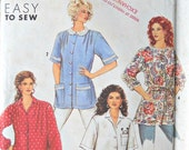 Simplicity 7066 Tunics or Smocks Pattern, All Sizes, Vintage 1990