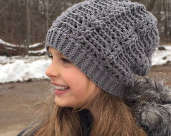 Crochet Pattern for Wave Slouch Hat - 5 sizes, baby to large adult - Welcome to sell finished items