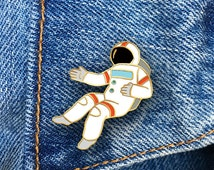 Spaceman, Astronaut Enamel Pin, Hard Enamel Pin, Jewelry, Art, Gift (PIN47)