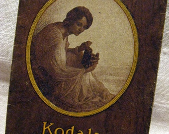 Vintage Kodak Film Wallet 1910s 1920s Australia Antique Photographic Ephemera Small Size