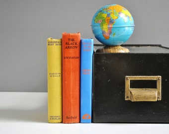 Vintage Industrial Metal File Box