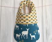 Baby Bib Organic Modern deer