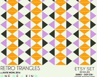 Retro Triangles - etsy set
