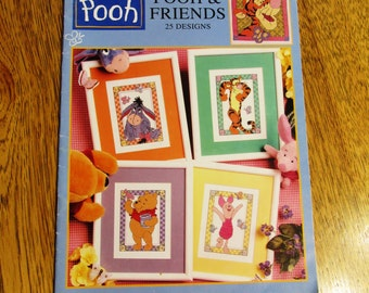 Winnie the POOH & Friends Cross Stitch Designs - Piglet, Tigger, Eeyore Designs - DISNEY Needlework Craft Projects by Leisure Arts #3156
