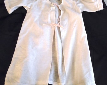 1940's Set of Three Vintage Baby Swaddling Robes Onesie White Cotton Flannel