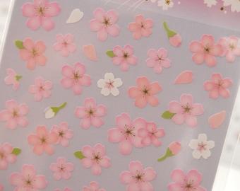 Japanese Cherry Blossoms Sticker (1 Sheet) - 74671