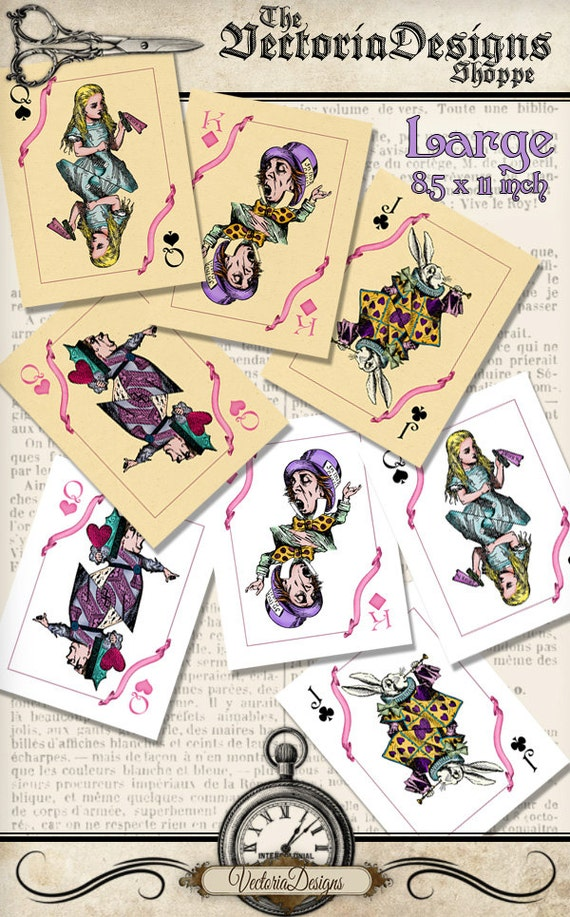 Critical image with playing cards printable
