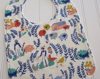 SWEET NATURALS/Organic Line/Toddler Bib/12--24 mo./Homestead(Organic)/Organic Fleece Backing