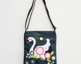 Pretty swan, sling bag