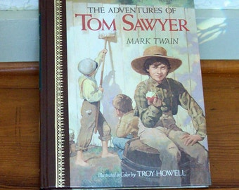 Tom Sawyer The Adventures of by Mark Twain Leather Bound Classic Book for Children