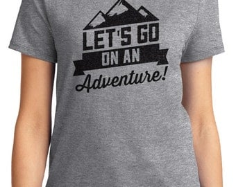 Let's Go On An Adventure! Camping Unisex & Women's T-shirt Short Sleeve 100% Cotton S-2XL Great Gift (T-CA-40)