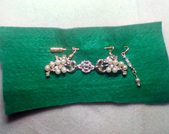 Repurposed Earrings into Shawl Pin