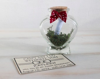 Will You Be My Bridesmaid Proposal Message in a Bottle Maid Of Honour Flower Girl Invite Bridesmaid Ask Bridesmaid Custom Bridesmaid Invite