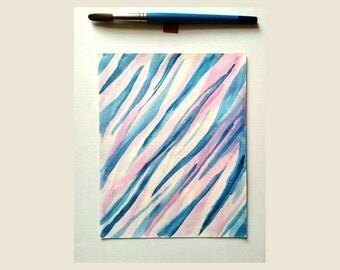 Minimalist Painting Original Abstract Art. Small original painting. Abstract watercolor original. Minimalist art original watercolor