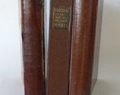 vintage notebooks, group of binders, journals, brown, Illinois, Wayne University, from Diz has Neat Stuff