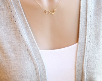 Infinity Necklace, Gold Infinity Necklace, Minimal Women's Jewelry, Layering Necklace, Layered Necklace, Simple Dainty Jewelry, Every Day