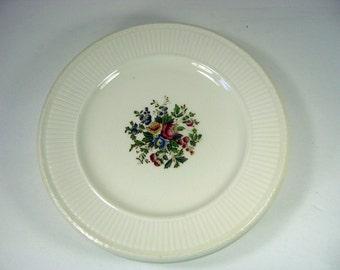 Vintage FLORAL SALAD PLATE Set/6 Wedgwood Conway England