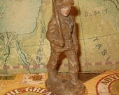 """Soldier, WWI Composition, 3.50""""H, Vintage Condition, but Still Nice, 1930's or Earlier"""