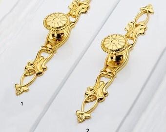 Gold Knobs Pull Handle Drawer Knob Dresser Knobs / Kitchen Cabinet Knobs Pull Handle Decorative Furniture Hardware WM595