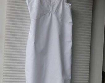 top form cotton white dress slip size 34
