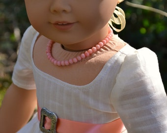 Doll Necklace Coral for American Girl Elizabeth Felicity Caroline