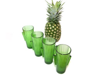 Cactus Glass Green Cactus Glasses Libbey Cactus Glass Southwestern Glasses -Set of 4