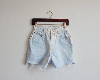 1980's Gitano Bleached Denim Shorts Size XS/S