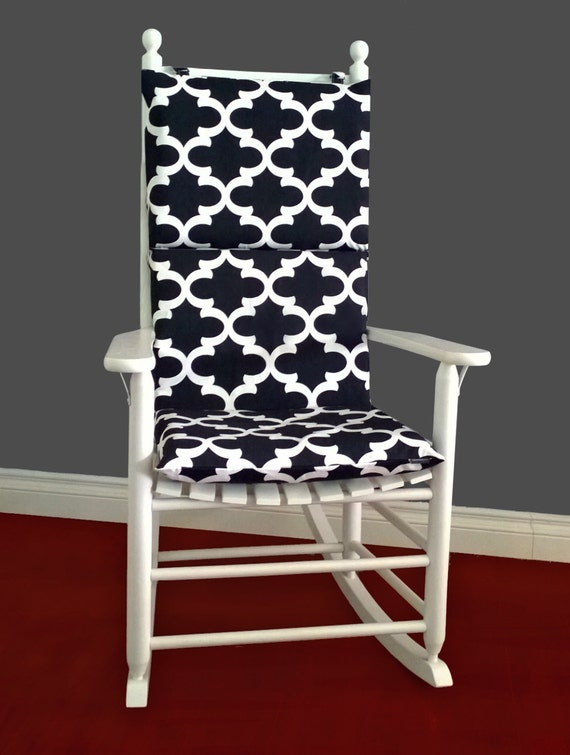 Black Indian Style Rocking Chair Cushion Cover