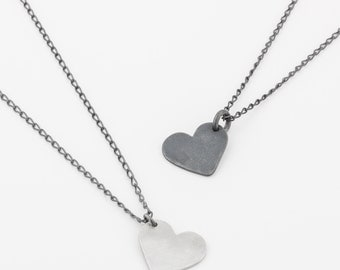 Silver Heart Pendant Necklace- 925 Sterling Silver Heart Charm - Gift For Her - Dainty Silver Heart Necklace - Delicate Silver Heart Pendant