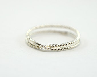 Twist Stacking Ring - Silver Overlap
